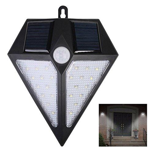Waterproof Outdoor Solar Light, Super Bright Body Detection Wall Light, LED Backyard Courtyard Street Light ()