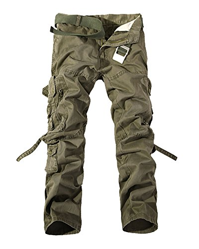 Pants Mens Cargo Hombre Verde Quge Cargo Trousers Tawny Pantalones Militar Casuales Laboral Pantalón pqYwtXE