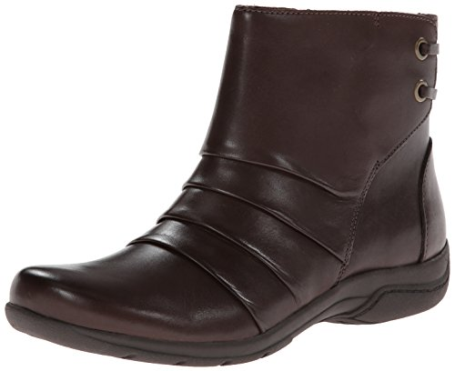 Clarks Christine inclinación de arranque Brown Leather