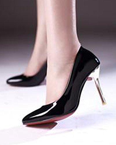 Classique Escarpins Pointu Bout Talon Femme Aiguille Noir Aisun zq5nRxw