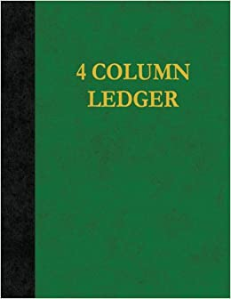 Book 4 Column Ledger: 100 Pages