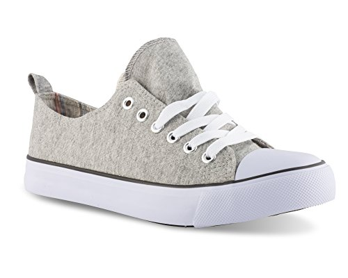 Twisted Women's Kix Printed Double Tongue Fashion Sneaker - KIXDT21 Grey, Size 6 by Twisted