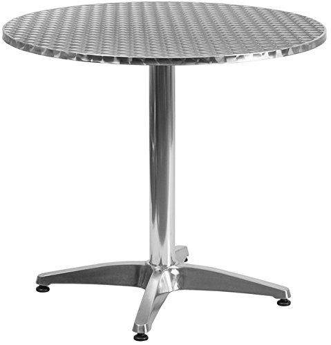 Flash TLH-052-3-GG Table 31.5in. Round Aluminum (TLH-052-3-GG)