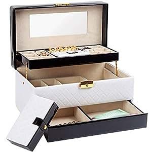 XHHWJJ Jewelry Box Princess European Jewelry Storage Box Korea Wooden with Lock Jewelry Cosmetic Box Jewelry Storage Box Gift (Color : E)