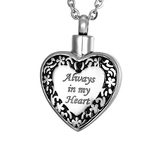 VALYRIA Always in My Heart Urn Locket Memorial Necklace S...