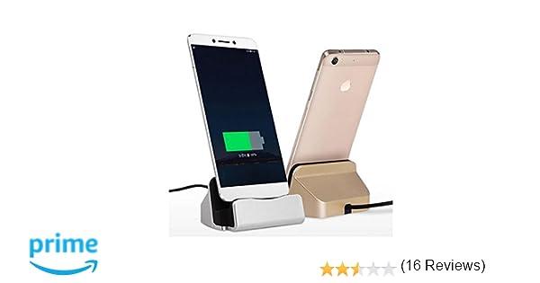 Theoutlettablet® Dock Carga/Sincronización para Smartphone Bq Aquaris E5 / M5 / X5 - Xiaomi Redmi 3 Pro/Redmi 4X Conexión Micro-USB