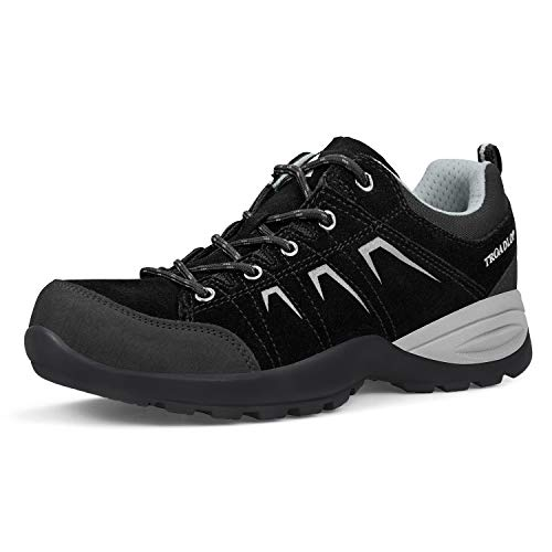 Feetmat Womens Hiking Shoes Leather Low-Top Breathable Outdo