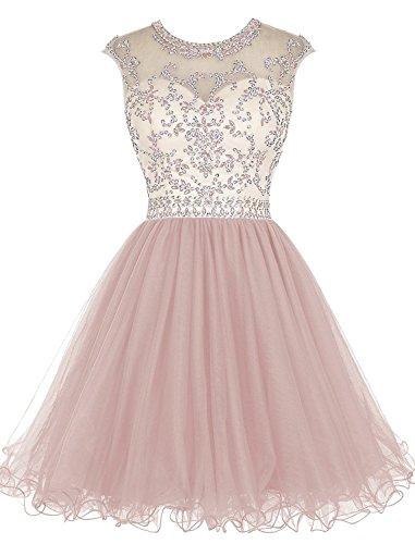 Abendkleider Beaded Kleides Blush Homecoming Ballkleid Fanciest Schwarz Women' Ball Cap Lang Sleeve Kurz YzTYZFOWq