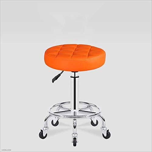 Price comparison product image Mingteng Drafting Stool Rotating Stool Chair Salon,  Spa,  Office,  Tattoo,  Kitchen,  Massage Medical (Orange)