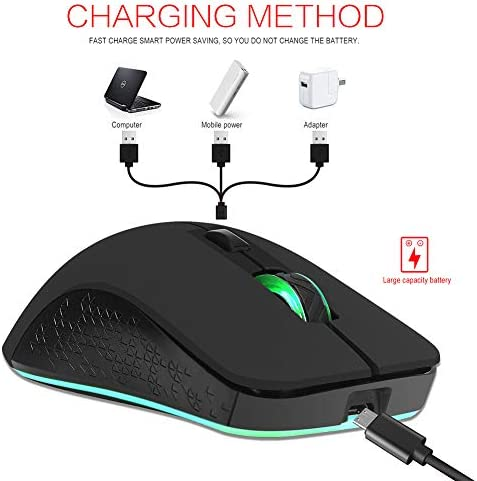 12,400 DPI Adjustable Sensor,Built-in 600 Mah Lithium Battery LUOXU Ultralight Gaming Mouse//Multi-Grip Gaming Mouse