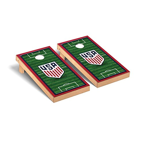 Victory Tailgate US Soccer USSF Desktop Cornhole Game Set Soccer Field Version 2 by Victory Tailgate