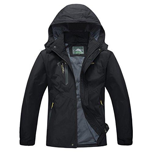 (Windbreaker Men with Hood Windproof Jacket Spring Jacket Coat Tactical Jacket Softshell Jacket Lightweight Jacket for Men Black)