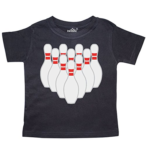 inktastic - Ten Pins for Bowling Toddler T-Shirt 4T Black 573c