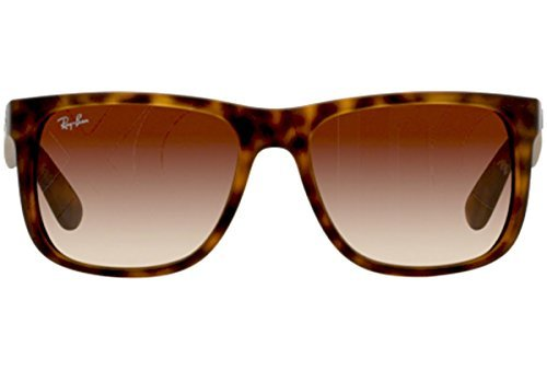 Ray-Ban Justin RB 4165 Sunglasses Rubber Light Havana / Brown Gradient - Gradient Brown Ray 55mm 3025 Ban Gold