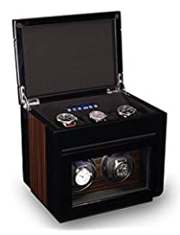 Double Watch Winder For Men's Automatic Watches, Plus Three Watch Box Storage