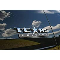 Chrome 1PC Lone Star Edition Texas Tailgate Rear Badge Emblem Sticker Decal Replacement for Dodge Ram 1500 2500 3500 Nissan Chevrolet Chevy F150 Toyota