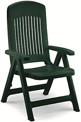 Dos sillones en resina, sillones plegables de jardín, sillón ...