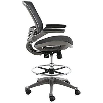Amazon Com Modway Veer Drafting Chair In Black