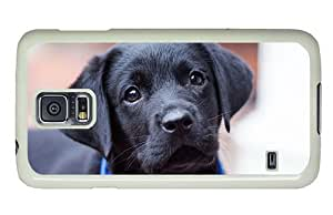 Hipster Samsung Galaxy S5 Case luxury cover Cute Black Puppy PC White for Samsung S5