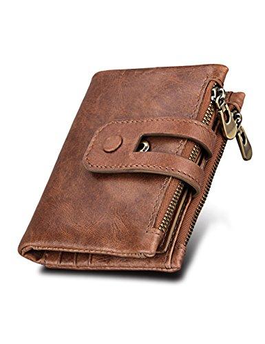ORICSSON Wallets Genuine RFID Leather Wallet Bifold Original Classic Credit Card Holder Case Purse For Men - Classic Bi Fold