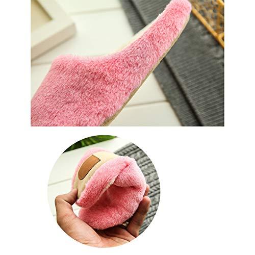 Morbido Indoor 37 Adorabile Pantofole Invernale 36 Scarpe Rosa Westeng Caldo Per Donna Cotone Antiscivolo In ZRTgWqwY
