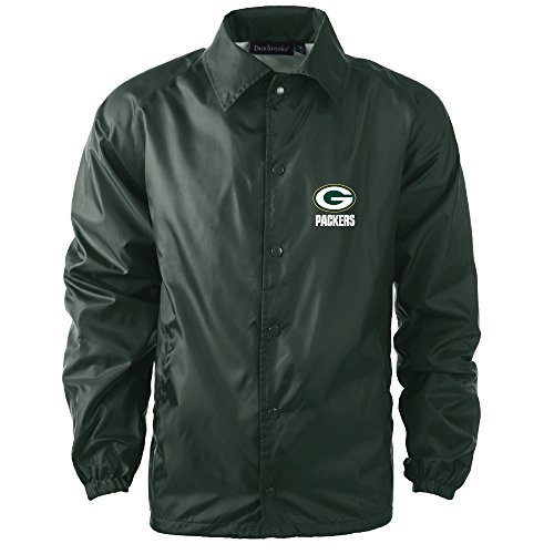 NFL Green Bay Packers Men's Coaches Windbreaker Jacket, X-Large, (Green Bay Packers Coat)