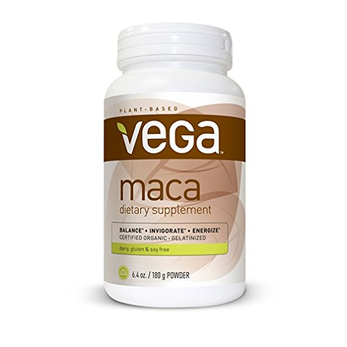 Vega Maca dietary supplement (6.4 Oz)- Organic, Gelatinized, Non GMO