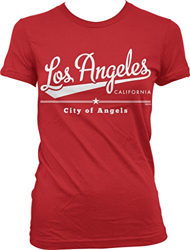 Los Angeles California, City of Angels Juniors T-shirt, NOFO Clothing Co. S - Angel Junior