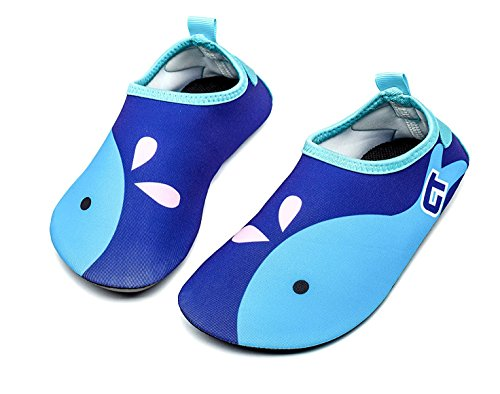 Image of Adorllya Toddler Baby Water Shoes Barefoot Aqua Socks Swim Shoes for Kids Boys Girls Beach Pool