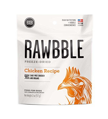 BIXBI Rawbble All-Natural Freeze Dried Dog Food, Chicken, 2 Ounce