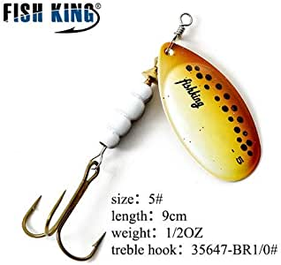 1PC Fishing Lure Bass Hard Baits Spoon With Treble Hook Tackle Spinner Bait