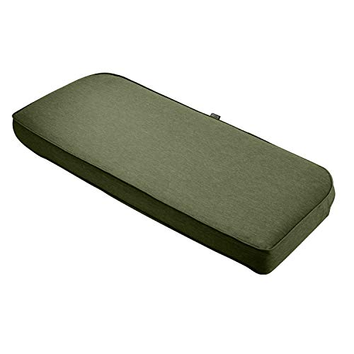 Classic Accessories Montlake Bench Cont. Cushion Foam & Slip Cover, Heather Fern, 41x18x3