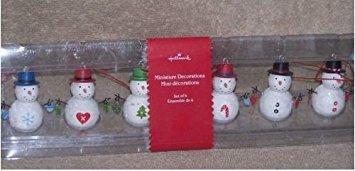 2006 Hallmark Miniature Decorations Snowmen Set of 6