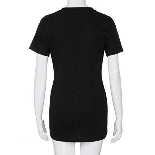 LILICAT® Maternity Tops de Camiseta, Moda Casual Camisetas de fútbol/Personaje/Estampado para Embarazadas, Manga Corta Verano con Camiseta de Cuello ...