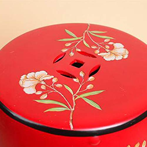 JSSFQK Household Ceramic Dressing Stool Chinese Classical Shoe Bench Creative Drum Stool Decorative Stool Chair Color : Green