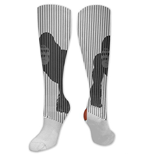 SARA NELL Knee High Socks Gorilla in The Cage and Man Knee High Compression Stockings Athletic Socks Personalized Gift Socks for Men Women Teens Girls -