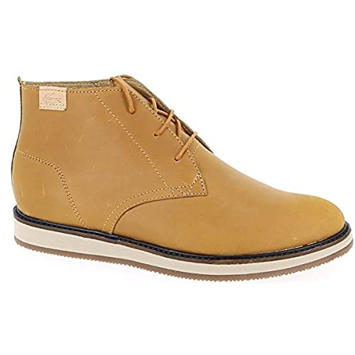 8580a9a71 low-cost LACOSTE Mens Shoes Ankle Boots MILLARD CHUKKA SRM TAN LEATHER