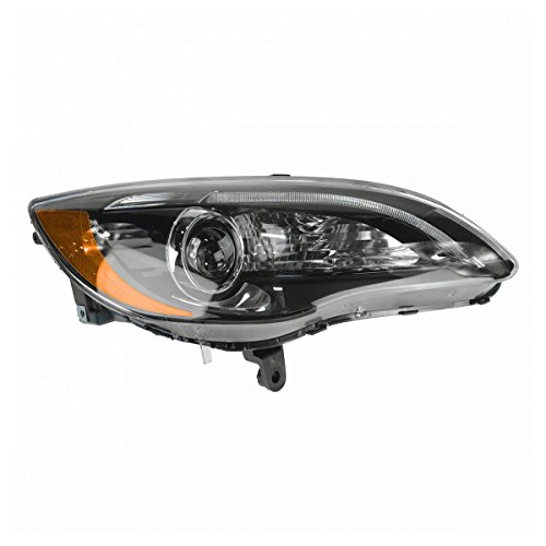 Headlight Headlamp Black Bezel Passenger Side Right RH for 11-14 Chrysler 200