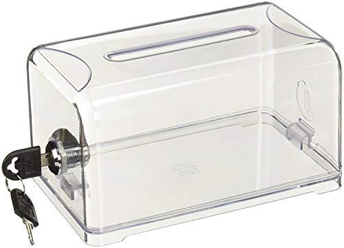 (Acrylic Donation Ballot Box Suggestion Business Card Box with Lock (4.75