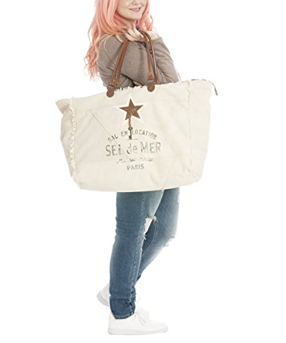 Sunsa Damen Vintage Tasche Shopper Badetasche Schultertasche 50x42x23cm