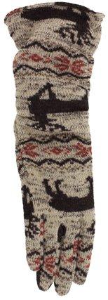 Grandoe Cire Homespun Long Knit Gloves (Medium, Moose Tracks)