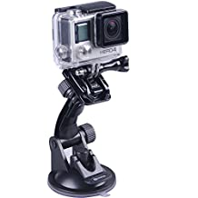 Smatree Suction Cup Mount for GoPro Hero 5/4/3+/3/2/1/Session