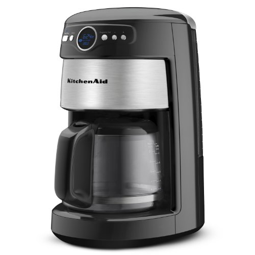 KitchenAid 14-Cup Glass Carafe Coffee Maker, Onyx Black