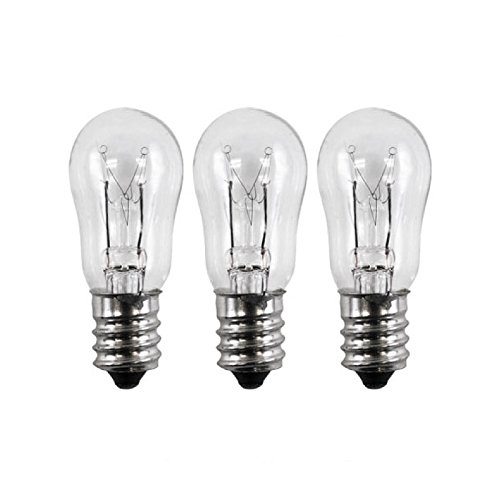 3 Pack - General Electric WE4M305 Dryer Light Bulb. 10-watts