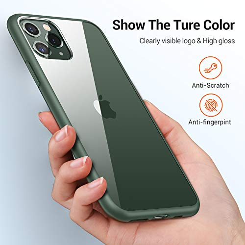 TORRAS Diamonds Clear Compatible for iPhone 11 Pro Case, Slim Fit Thin Shockproof Hard PC Back & Soft TPU Bumper Cover…