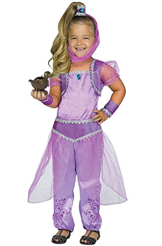 Fun World Toddler Girls' Purple Glimmer Genie Shimmer Costume, Multi, (Toddler Genie Costumes)