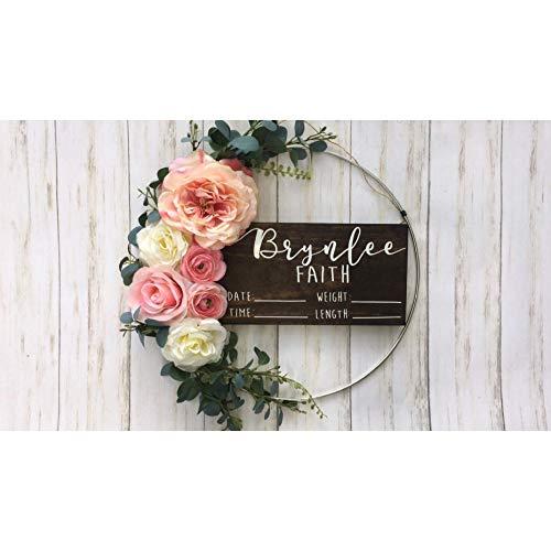 Hospital Door Hanger - Floral - Baby Girl - Shabby Chic
