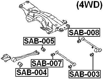 SAB-007 For Subaru OEM:20251-AA010 High-Quality 2 Arm Bushing Track Control Arm