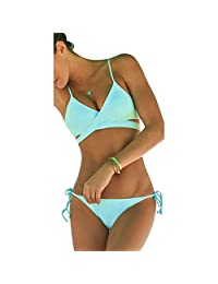 Fashionzone Bandage Bikini Beachwear Swimsuit Two Piece Swimwear
