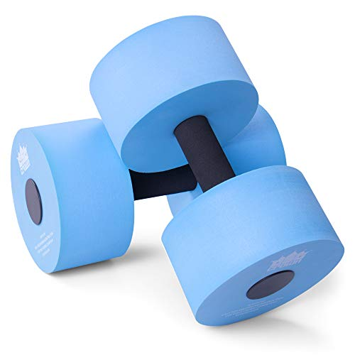 Aqua Dumbbell Two-Pack | Foam Resistance Fitness Equipment | Low Impact Exercise Weight Accessory | Water Aerobics & Swimming Pool Resistance Workout Gear
